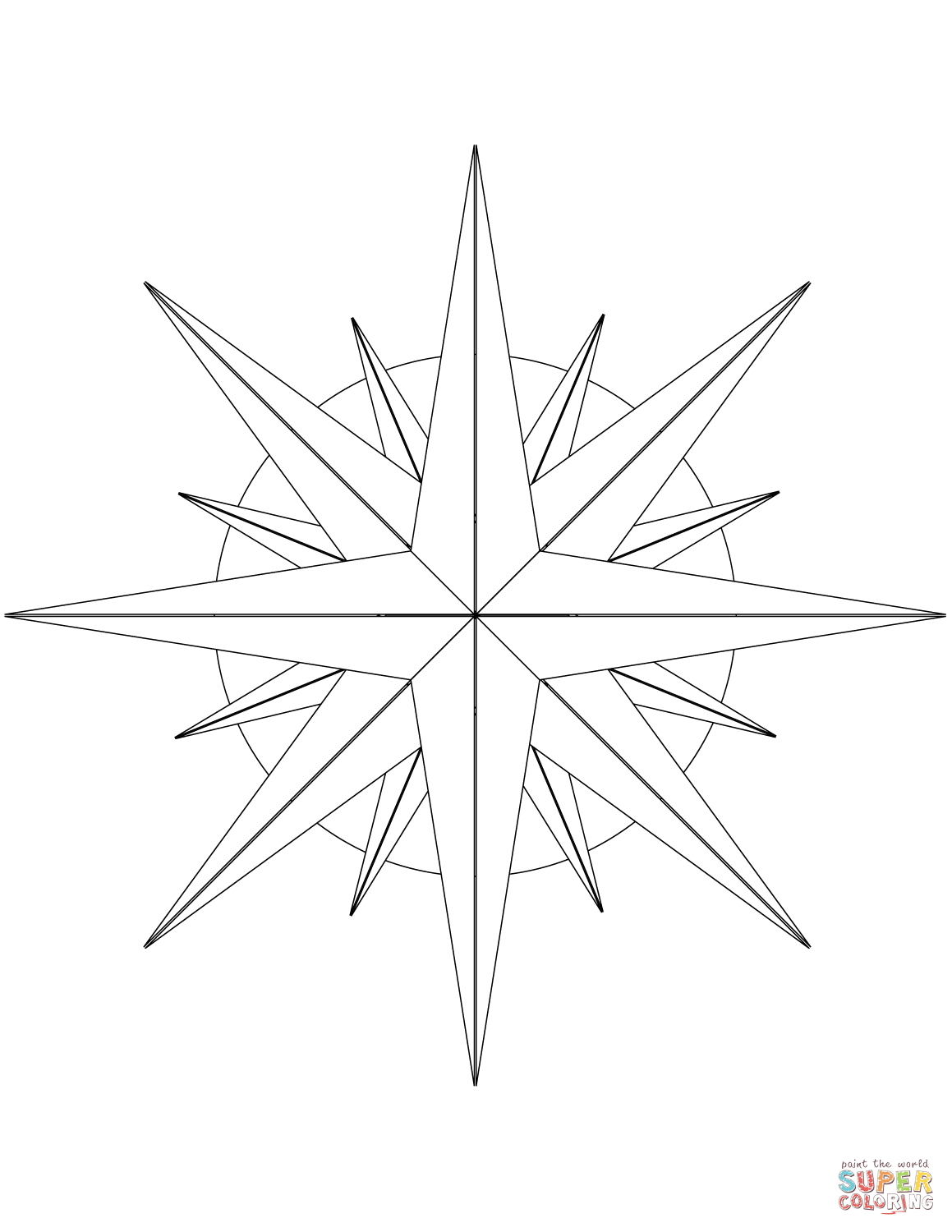 Compass Rose Drawing At Getdrawings Com Free For Personal