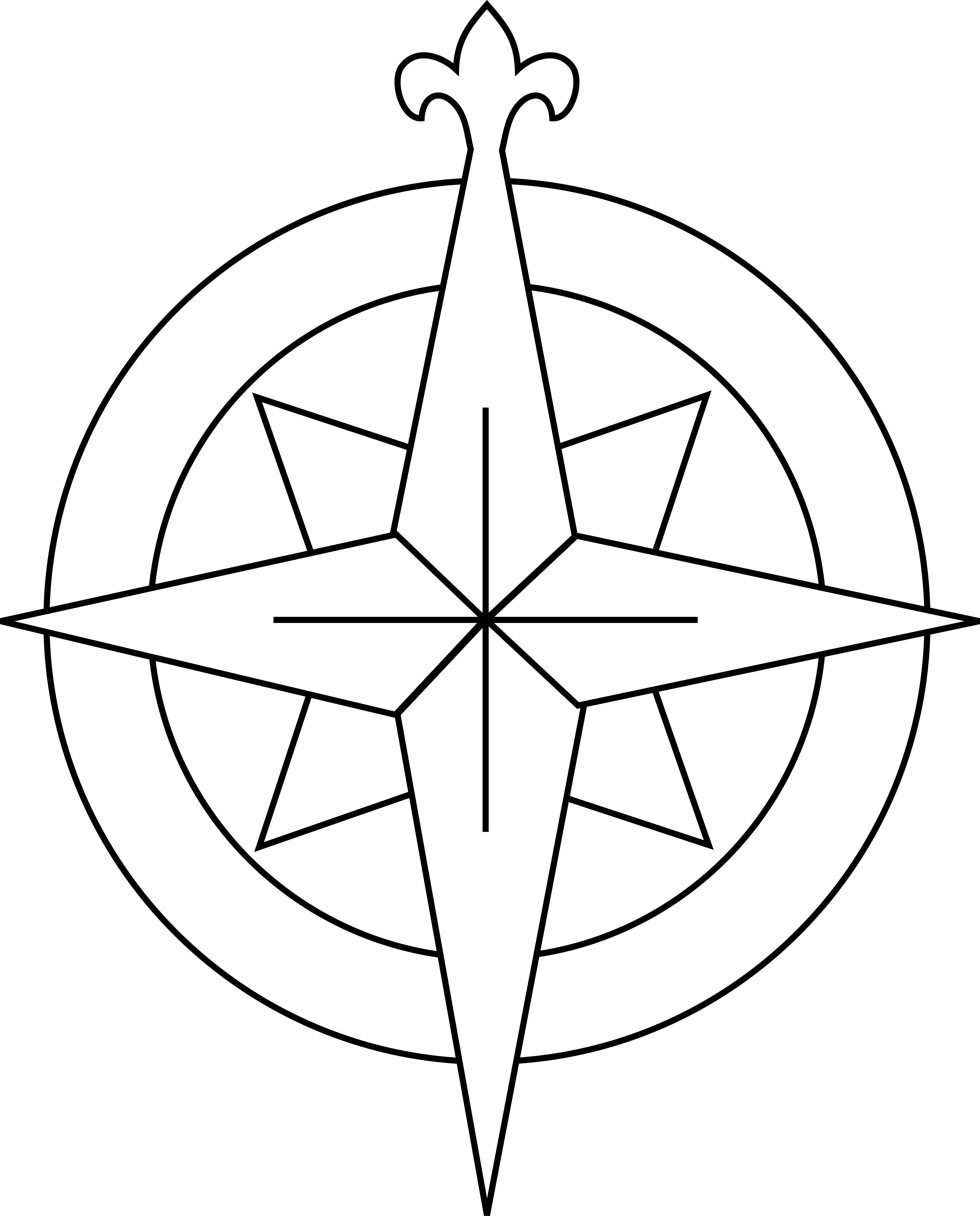 4683x5810 Trend Compass Rose Coloring Page 45