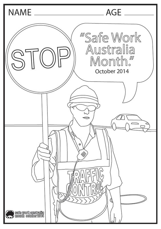 564x800 Rural Safety Colouring In Competition Safe Work Month Australia