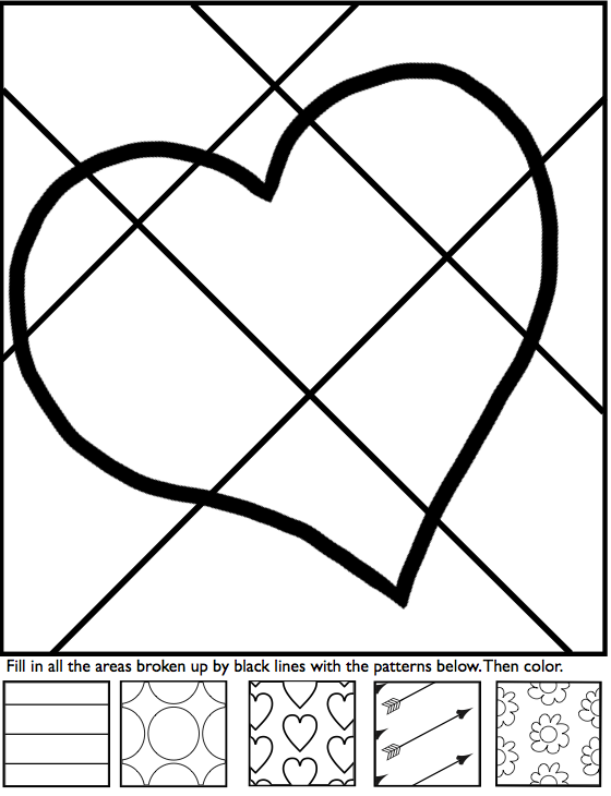 560x730 Interactive Coloring Sheets For Valentine39s Day From Art With