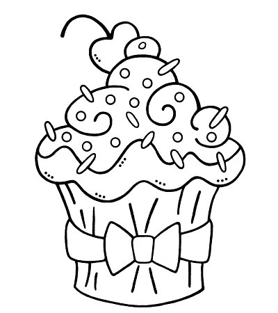 400x450 Top 25 Free Printable Cupcake Coloring Pages Online Exercises