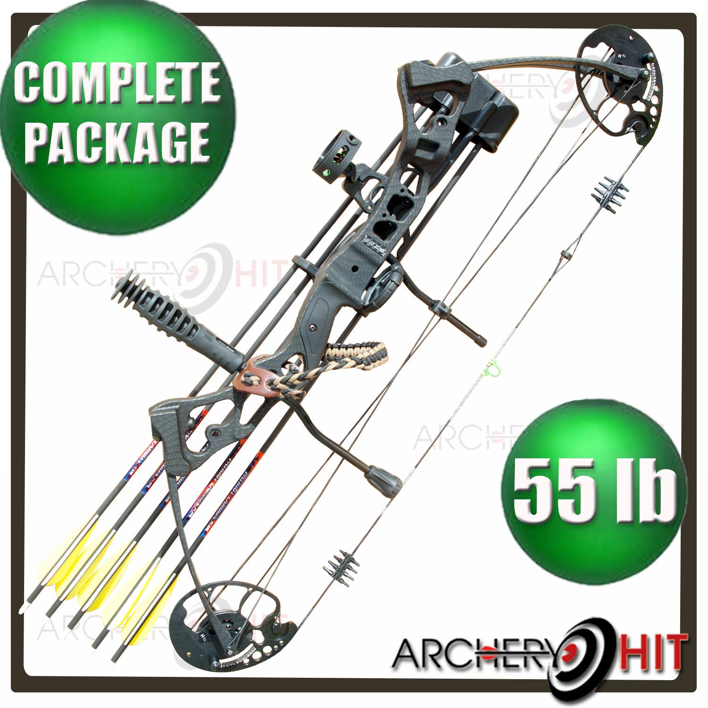 1500x1500 Compound Bow Vulture Carbon Black 55lb Compound Bow Rts