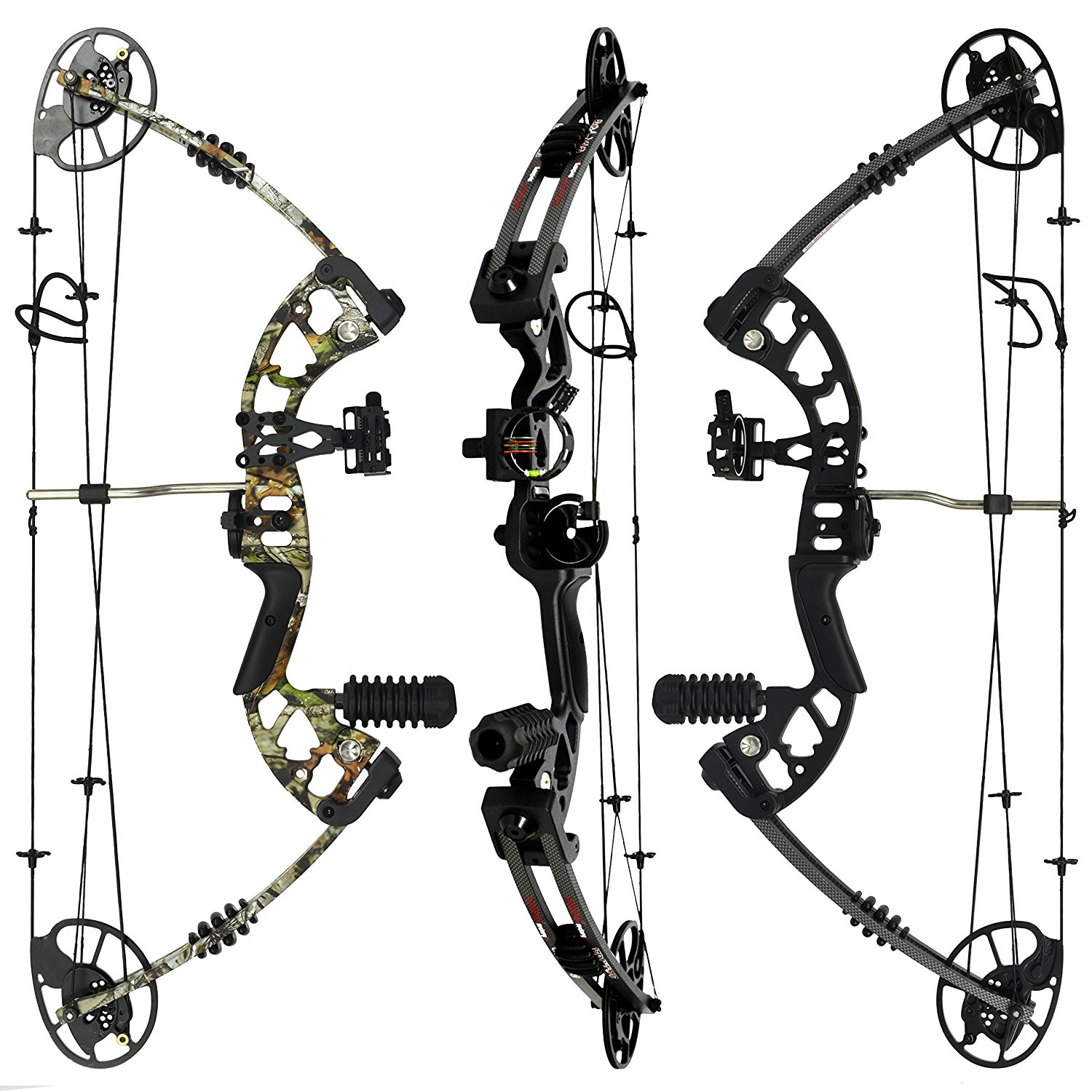 1500x1500 Raptor Compound Bow And Arrow Kit Fully Adjustable 24.5 31 Draw