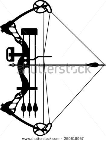 351x470 Compound Bow Drawing