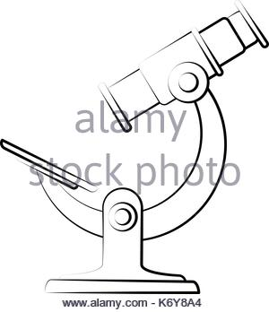 300x348 Laboratory Microscope Sketch Stock Vector Art Amp Illustration