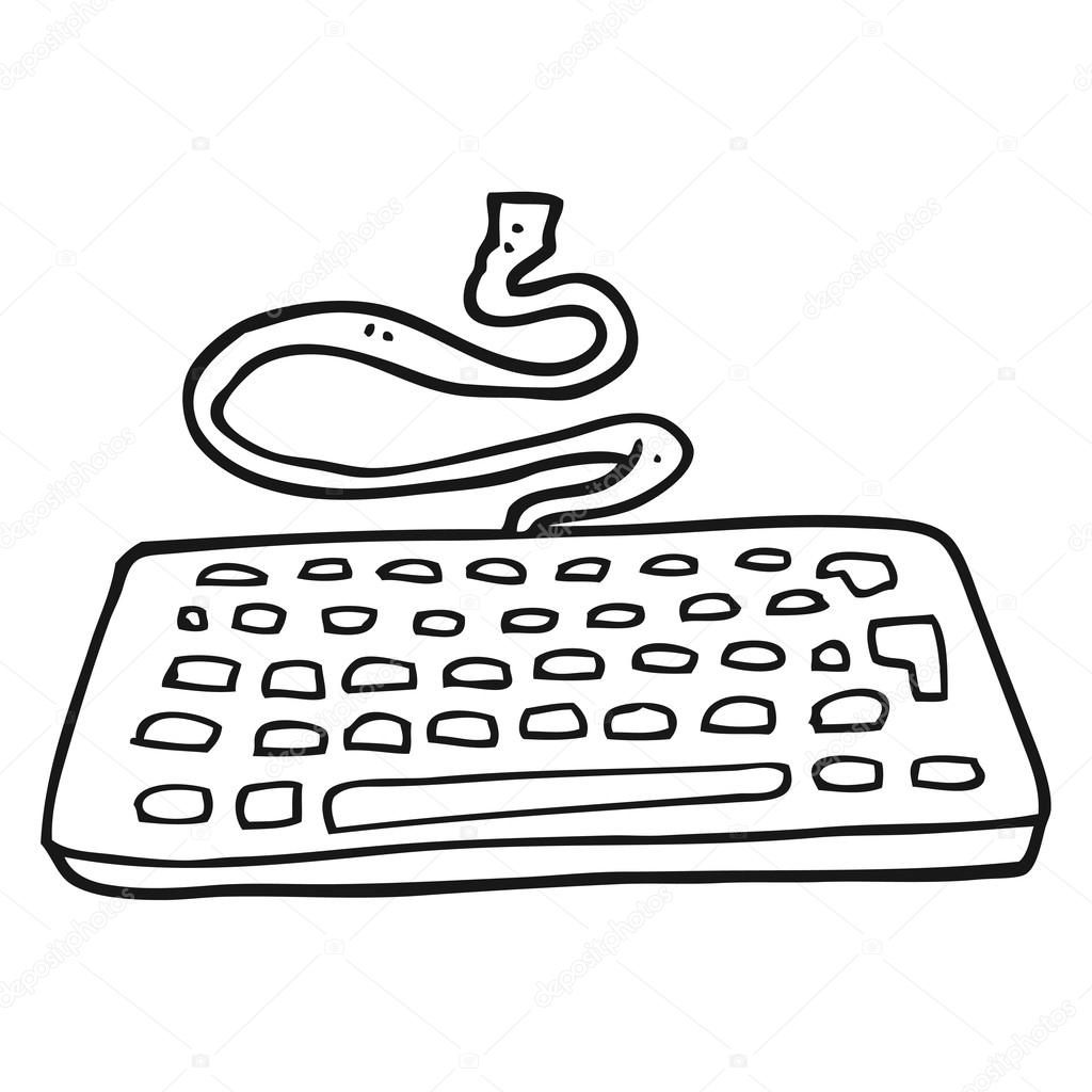 1024x1024 Cartoon Computer Stock Vector Lineartestpilot