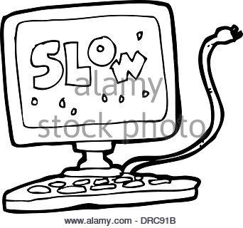 342x320 Cartoon Slow Computer Stock Vector Art Amp Illustration, Vector