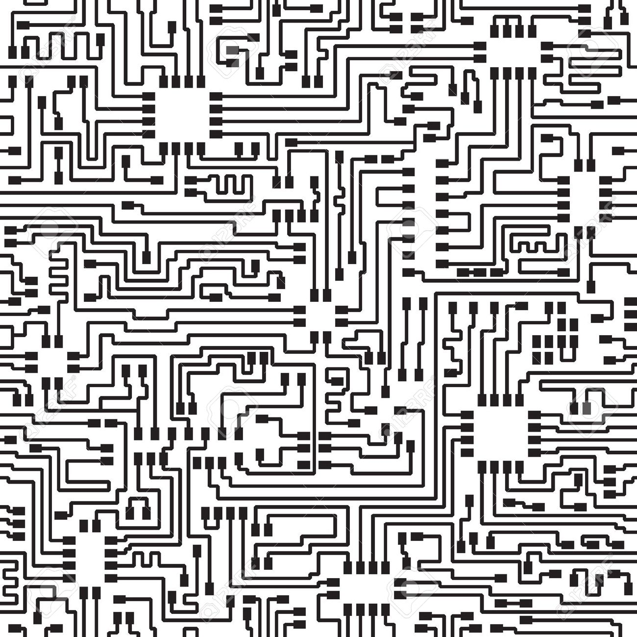 Computer Chip Drawing At Free For Personal Use Electronic Integrated Circuit As An Abstract Background Pattern 1300x1300 Seamless Hi Tech Monochrome