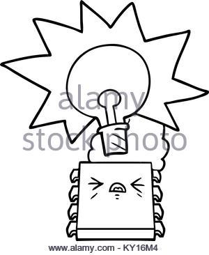 300x366 Cartoon Overheating Computer Chip Stock Vector Art Amp Illustration