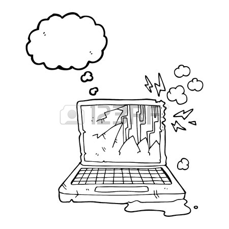 450x450 Freehand Drawn Thought Bubble Cartoon Computer Chip Royalty Free