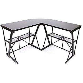 350x350 Origami Rde 01c Corner Computer Desk Black, Large