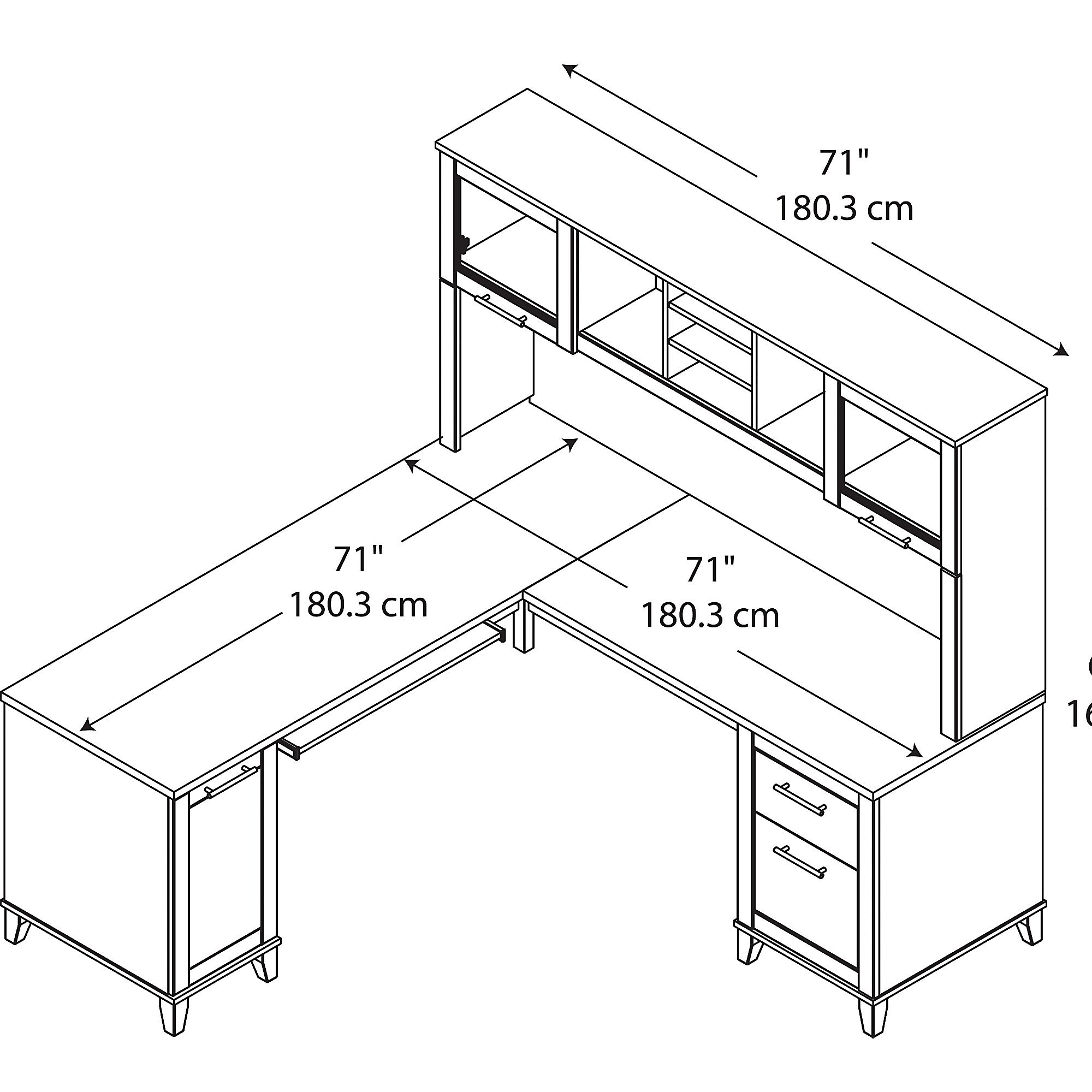 2000x2000 Latitude Run Kittle Somerset L Shaped Computer Desk With Hutch