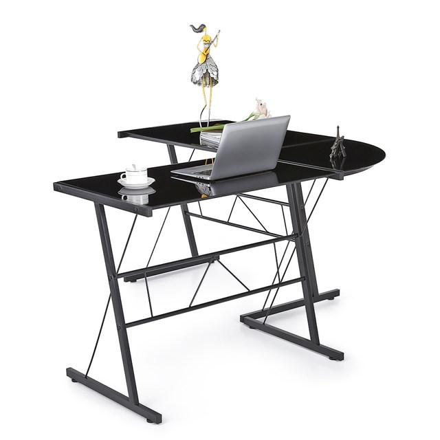 640x640 Online Shop Ikayaa Us Fr Stock L Shaped Corner Computer Desk Pc