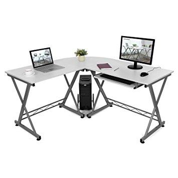 355x355 Songmics L Shaped Large Corner Computer Desk Workstation