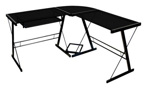 500x303 Walker Edison Soreno L Shape Computer Desk With Sliding Keyboard