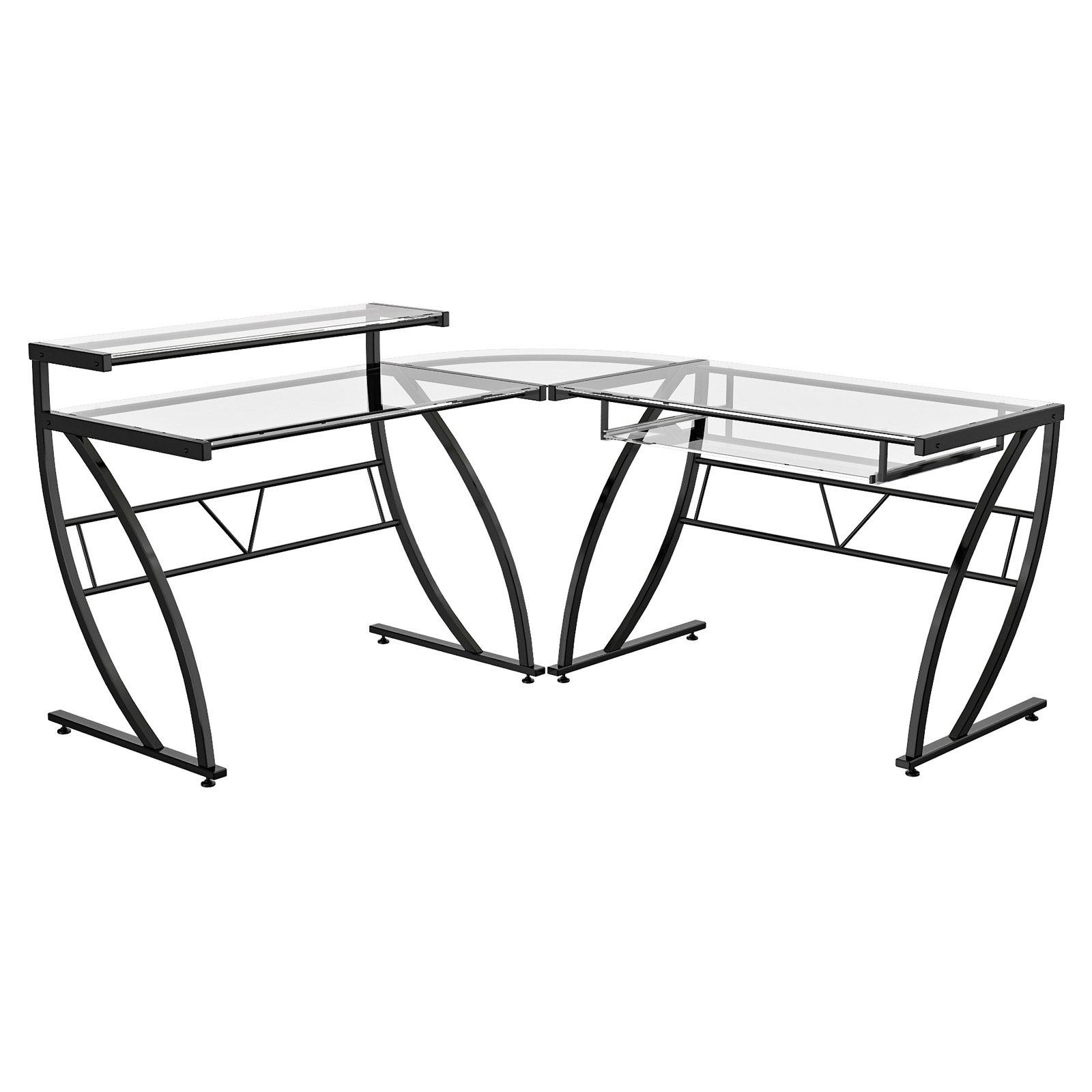 1600x1600 Z Line Belaire Glass Top L Shaped Desk