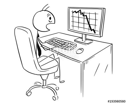 500x411 Cartoon Stick Man Drawing Conceptual Illustration Of Businessman