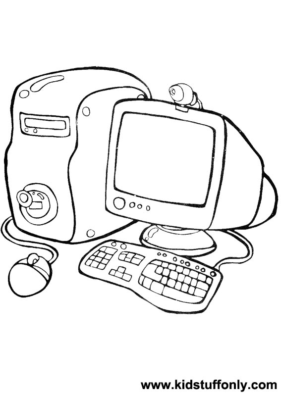 567x794 Computer Coloring Pages
