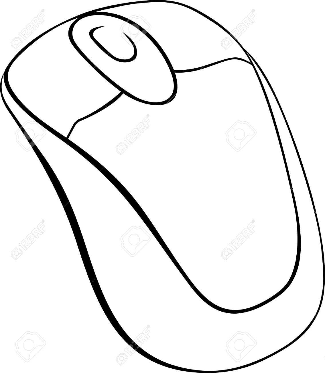 1135x1300 Computer Mouse On White Background Royalty Free Cliparts, Vectors