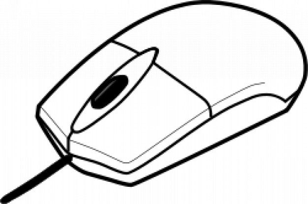 626x415 Computer Mouse Outline Vector Free Download