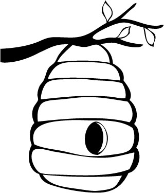 319x375 Bee Hive Outline Clipart