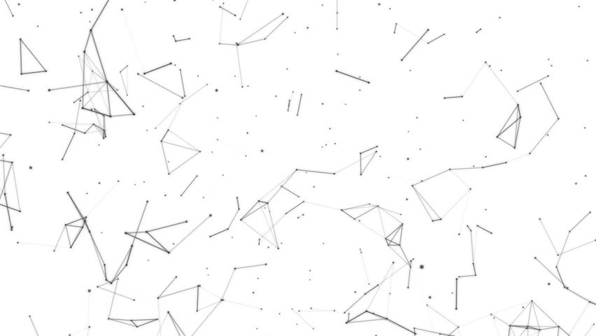 852x480 Black Particles Slowly Moving On A White Background. 3d Rendering