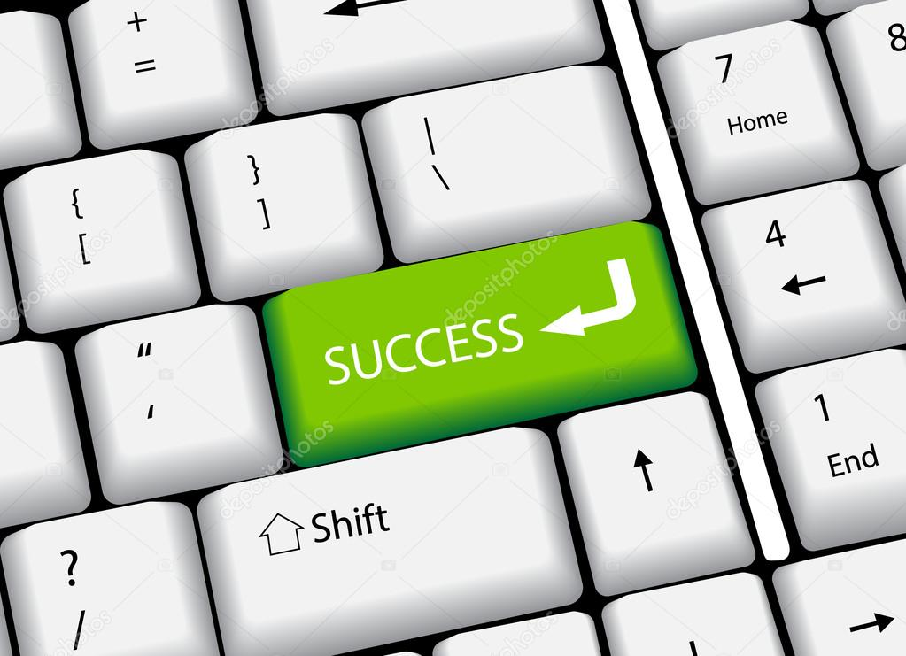 1023x741 Business Finance Concept Computer Keyboard With And Word Success