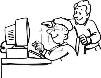 350x270 Computer Lab Clipart Black And White