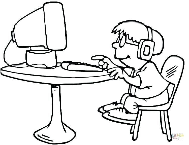 750x576 Computer Coloring Pages