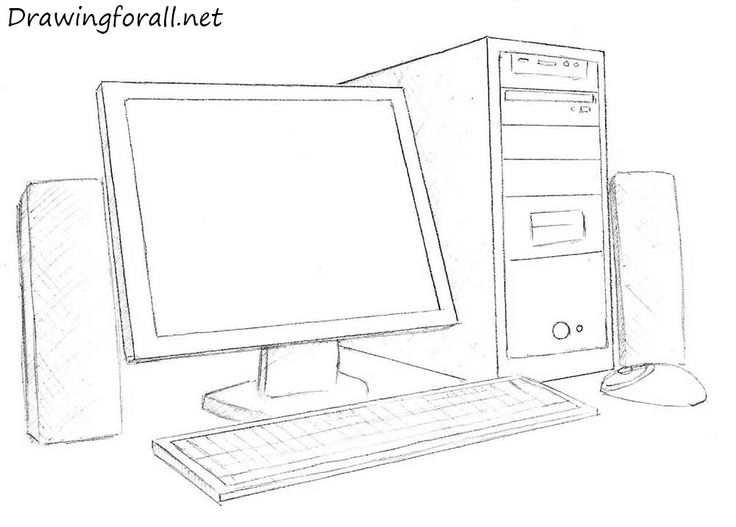 Computer Monitor Drawing