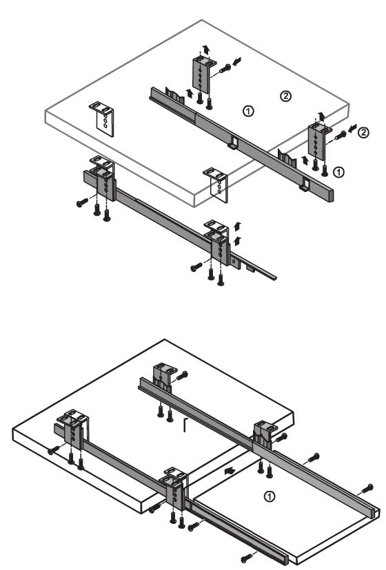 560x828 Under Desk Computer Keyboard Tray, Shelf, Sliding Drawer Complete