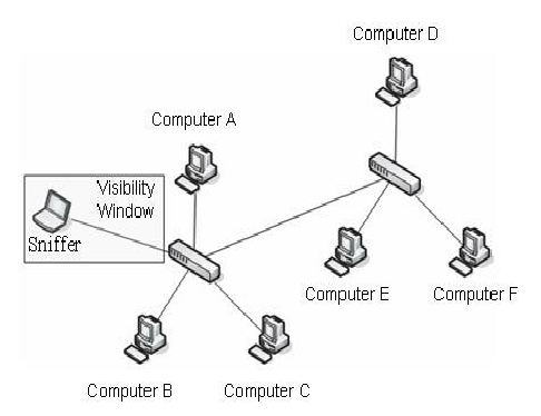 486x374 The Visibility Window On A Switched Network Is Limited To The Port