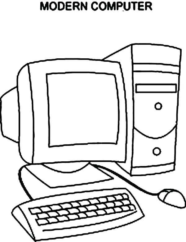600x780 Inspirational Computer Coloring Pages For