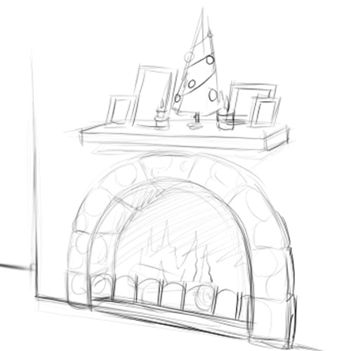 500x500 How To Draw A Fireplace 12 Steps (With Pictures)