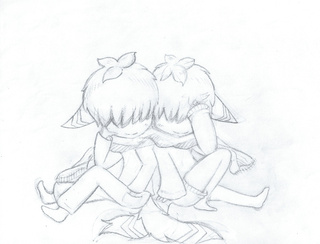 320x244 Two New Twin Original Characters I Created. Drawn With Pencil