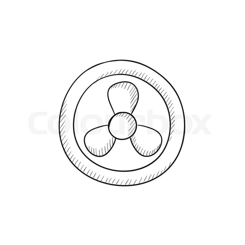 800x800 Computer Cooler Vector Sketch Icon Isolated On Background. Hand