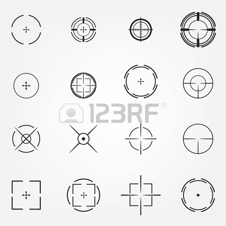 450x450 Crosshair Icons Set For Computer Games Shooters Or Original Mouse