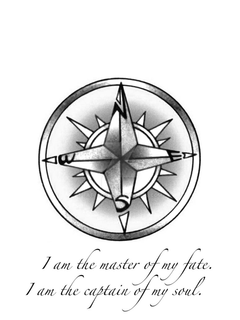 775x1030 A Quick Sketch Of A Compass Tattoo, Font Was Created On