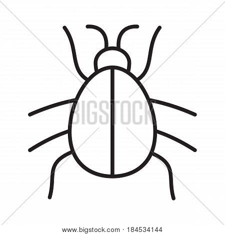 450x470 Beetle Linear Icon. Computer Virus Vector Amp Photo Bigstock