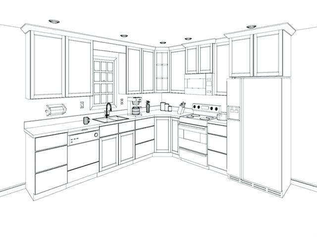 640x480 Cabinet Drawing Computers Drawings For Pencil Coloring Cabinet