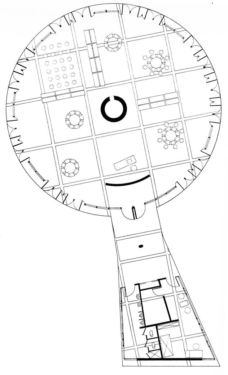 736x1208 Pier Luigi Nervi, Sports Palace, Plan, Rome, Italy, 1958 1960