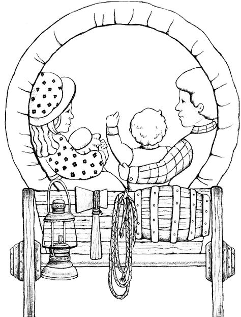 free coloring pages pioneers - photo#4