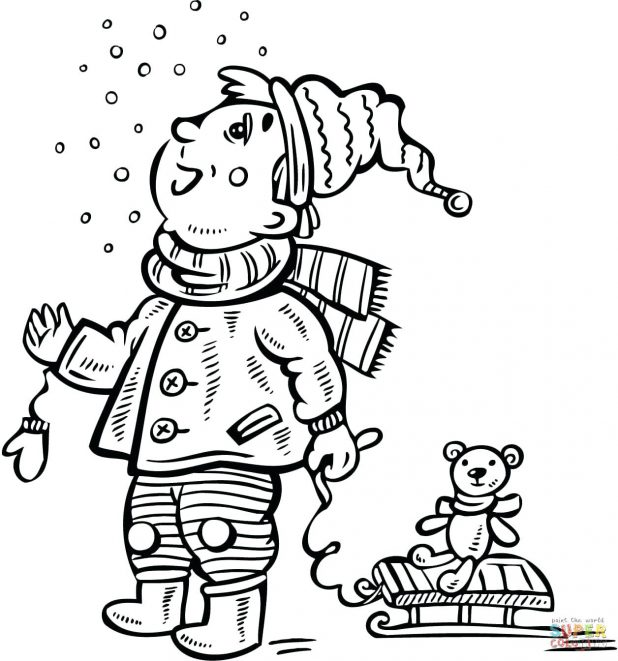 618x661 W Is For Wagon Coloring Page. Daddy Pulling Caillou In Wagon