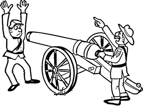 480x358 Civil War Coloring Page Free Printable Coloring Pages