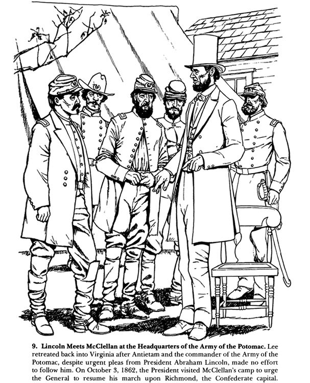 civil war solders coloring pages - photo#8