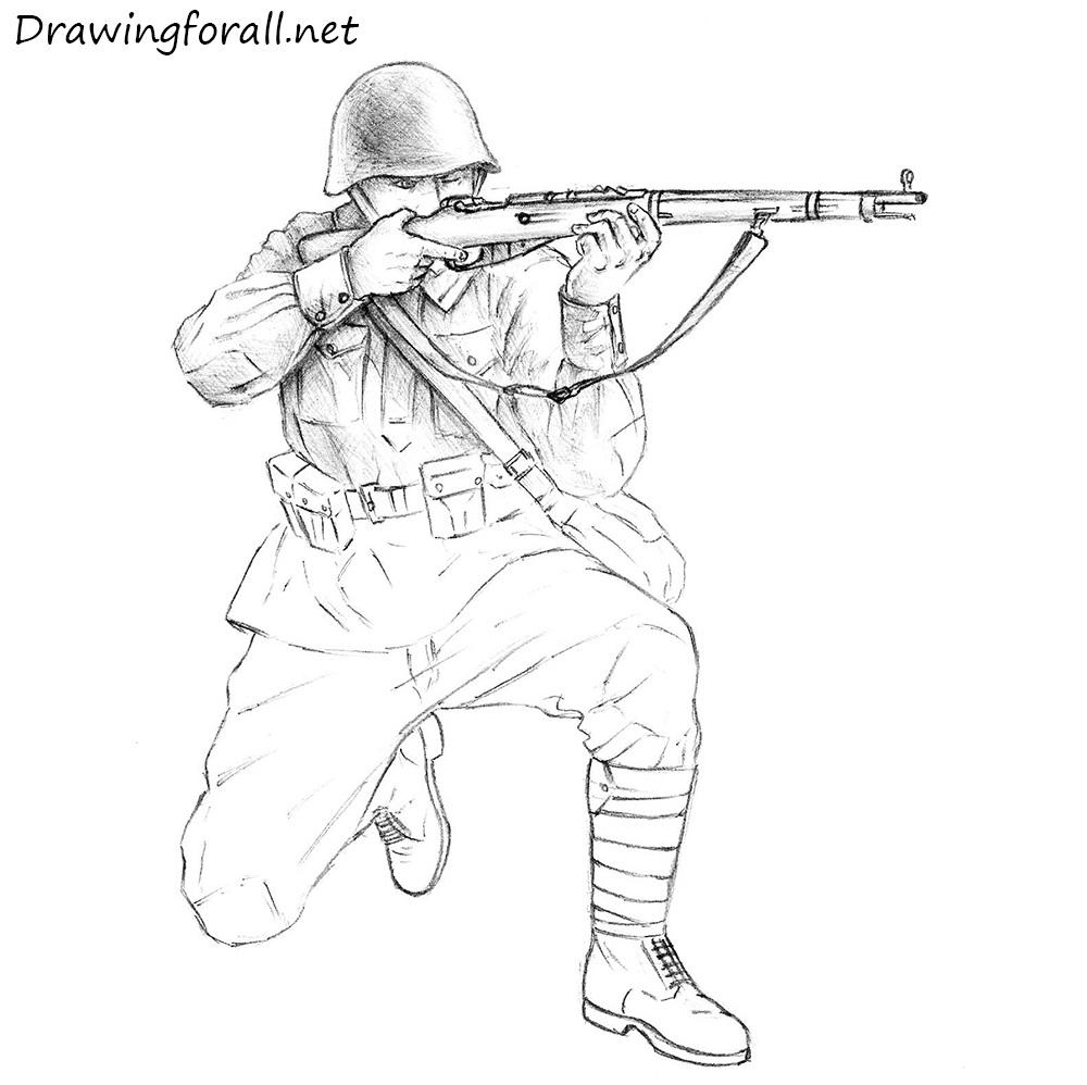 1000x998 Drawn Soldier Soilder