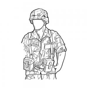 300x300 Drawn Soldiers War Drawing