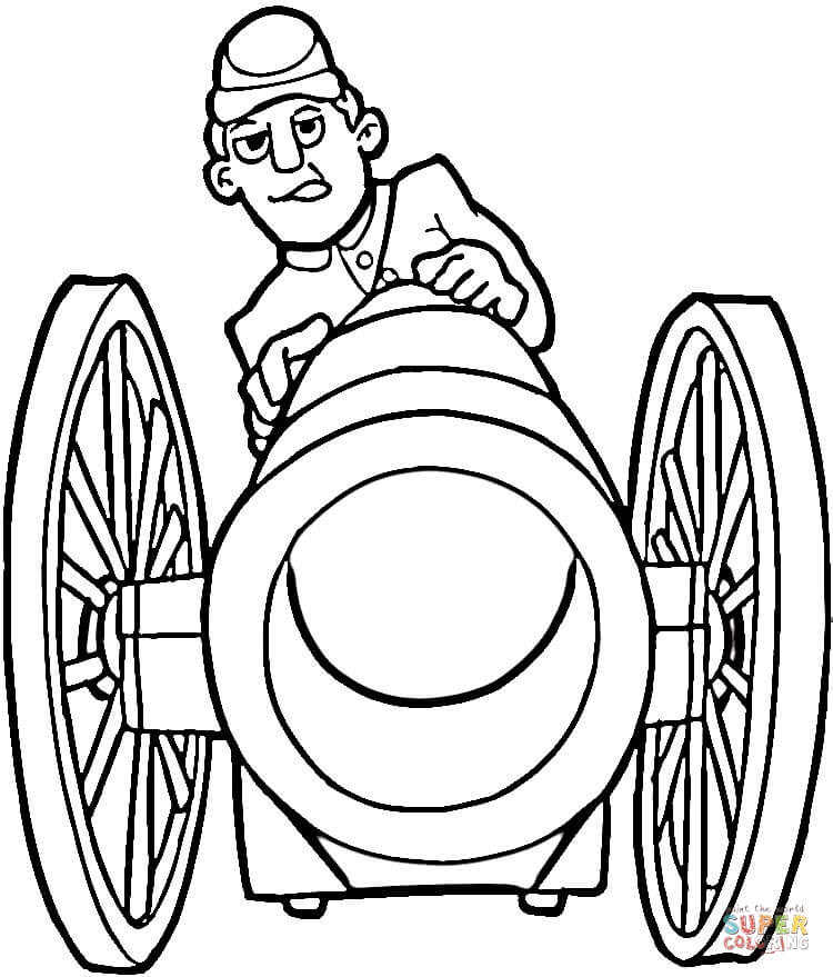 750x879 Fire From Cannon Coloring Page Free Printable Coloring Pages