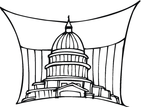 480x367 Capitol Us Government Building In Washington Coloring Page Free