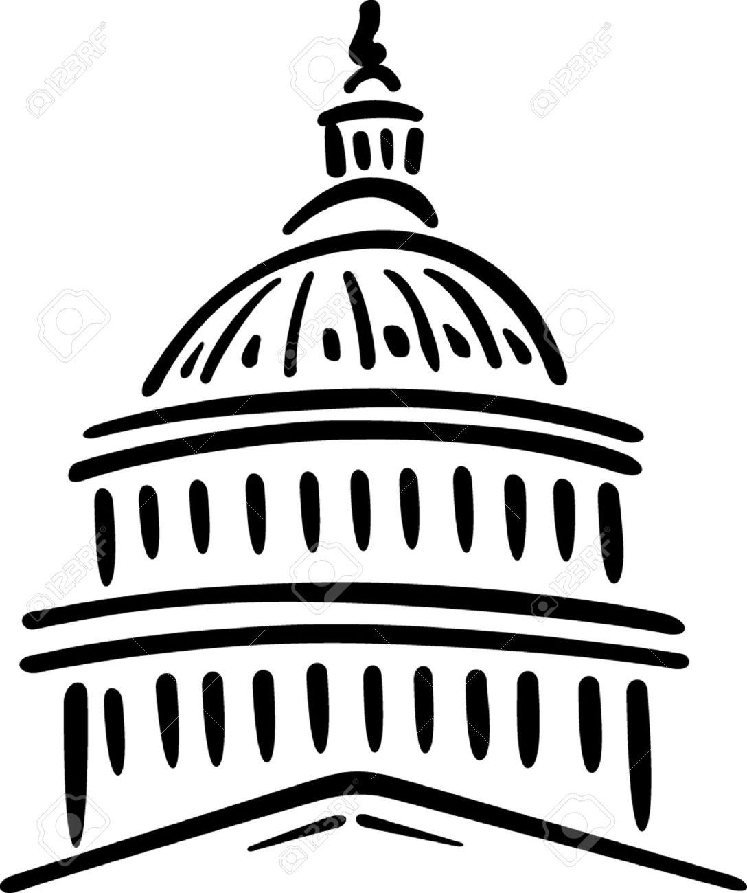 1088x1300 Illustration Of The U S Capitol, Washington D C Royalty Free